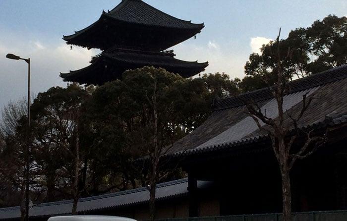 京都の東寺の五重の塔