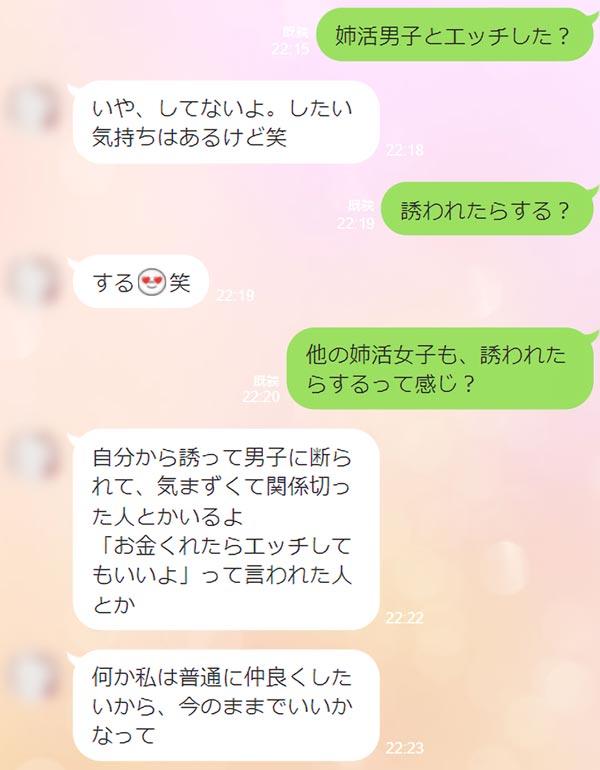 姉活女子の会話